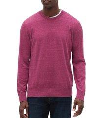 chaleco algodón cuello redondo rosa gap