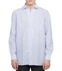 massimo alba blue bowles shirt