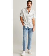 gestreept lyocell regular-fit overhemd