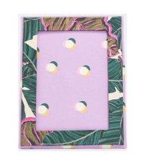 porta retrato em tecido estampa folhagem | accessories | multicores | u