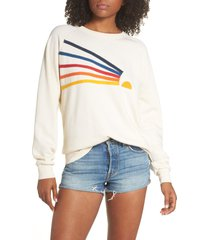 aviator nation daydream sweatshirt, size x-large in vintage white at nordstrom