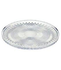 centro de mesa wolff transparente em vidro cristal 32cm