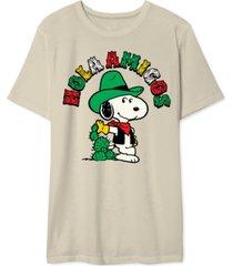 snoopy cactus men's graphic t-shirt