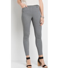 maurices womens gray bengaline skinny ankle pants