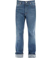 alexander mcqueen jeans with decorative selvedge