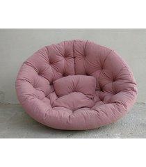 fotel futon sofa pikowana brudny róż