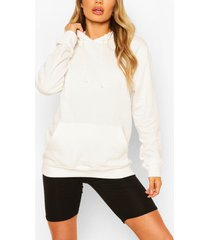 basic boyfriend hoodie, off white