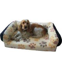 cama sofa para perro raza mediana cafe