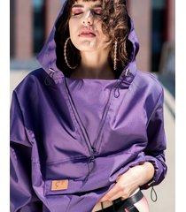 anorak softshell violet