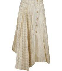 acne studios asymmetric striped skirt