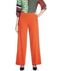 pantalon palazzo liso naranja lorenzo di pontti
