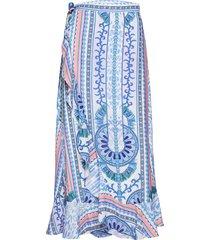 cindy skirt knälång kjol blå by malina