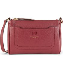 empire city top-zip leather crossbody bag