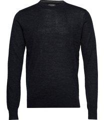 jupiter stickad tröja m. rund krage blå bruun & stengade