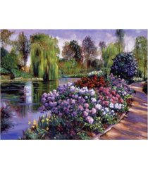"david lloyd glover promise of spring garden path canvas art - 19.5"" x 26"""