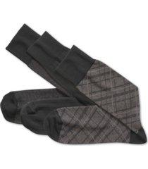 johnston & murphy men's 3-pk. assorted print socks