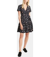 french connection frida arimose floral-print crepe fit & flare dress
