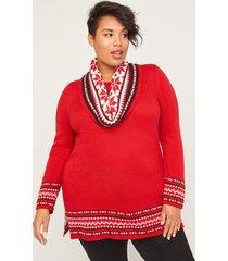 fair isle duet scarf sweater