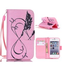 4s case,iphone 4s case,xyx [hope love] - [kickstand][wallet][card slot][flip][sl