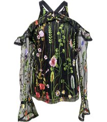blusa tul floral negro nicopoly