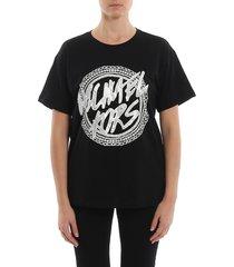 glittered logo print t-shirt