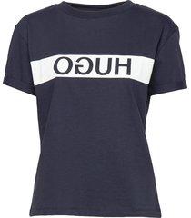 datina t-shirts & tops short-sleeved blå hugo