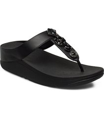 fino circle toe-thongs flip flops sandaler svart fitflop