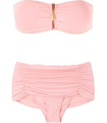 brigitte dani strapless bikini set - pink