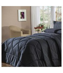 cobre leito king plumasul soft touch 280x260cm microfibra preto