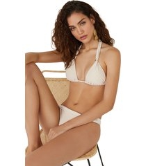 top bikini triangular detalles metálicos multicolor women secret 6485707 copa-b9700