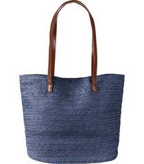 borsa shopper di paglia (blu) - bpc bonprix collection