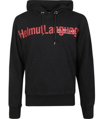 helmut lang front chest logo hoodie