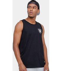 camiseta regata nfl oakland raiders new era big masculina
