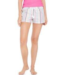 jennie metallic striped pajama shorts, created for macy's