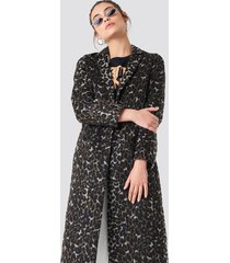 na-kd trend printed coat - multicolor