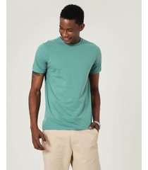 camiseta tradicional meia malha malwee verde musgo - xgg