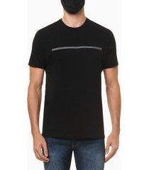 camiseta masculina estampa linha preta calvin klein jeans - pp
