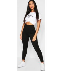 basic leggings met diepe hoge taille, zwart