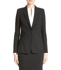 women's akris punto long one-button jacket