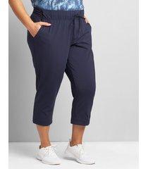 lane bryant women's livi stretch trouser capri 38/40 night sky