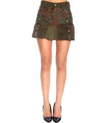 diesel skirt diesel o-loved kargo skirt in camouflage fabric