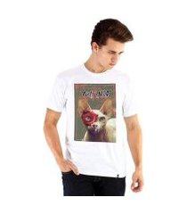 camiseta ouroboros cat skull masculina
