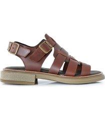 sandalia marrón briganti mujer linugus