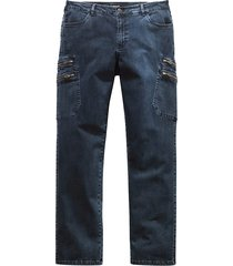 jeans men plus blauw::zwart