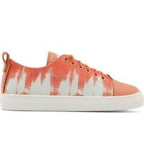 giuseppe junior low top tie-dye print sneakers - pink
