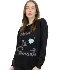 sweater negro oma fresia love