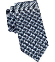 layered stripe silk tie