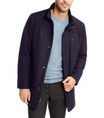 calvin klein men's big & tall long open bottom overcoat, created for macy's
