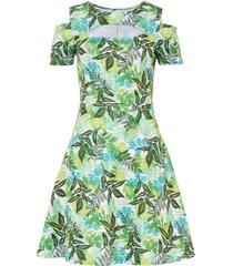 abito con cut-out (verde) - bodyflirt boutique