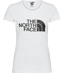 w s/s easy tee t-shirts & tops short-sleeved vit the north face